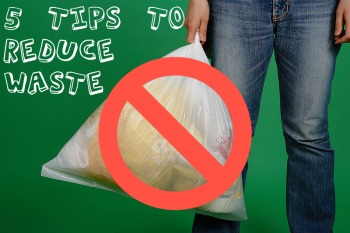 Trashbag caption Reduce Waste at Home With 5 Simple Tips